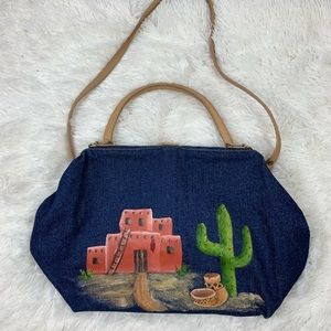 Vintage 70s Tcapelli hand painted bag
